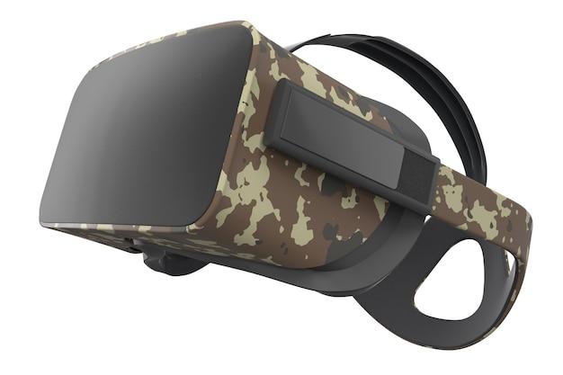 Okulary wirtualnej rzeczywistości na białym tle z renderowaniem ścieżki przycinającej d