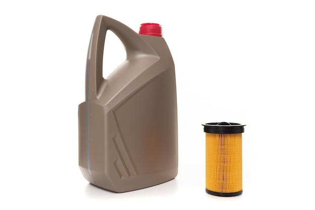 Olej silnikowy i filtr paliwa, komplet techniczny obsl car