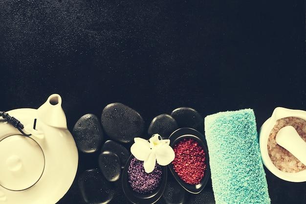 Olej stołowy luksusowa butelka soli