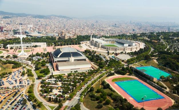 Olimpic area of montjuic. barcelona, hiszpania