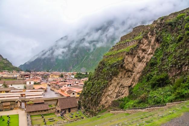 Ollantaytambo, inków ruiny ollantaytambo, święta dolina inków w peru, ameryka południowa