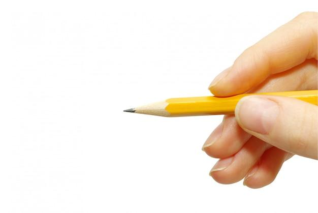 Ołówek w dłoni