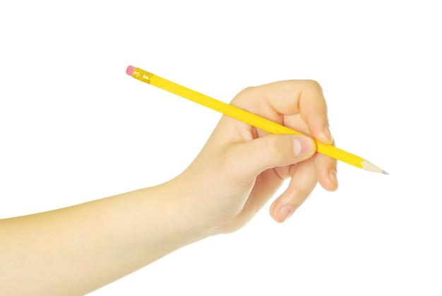 Ołówek w ręku