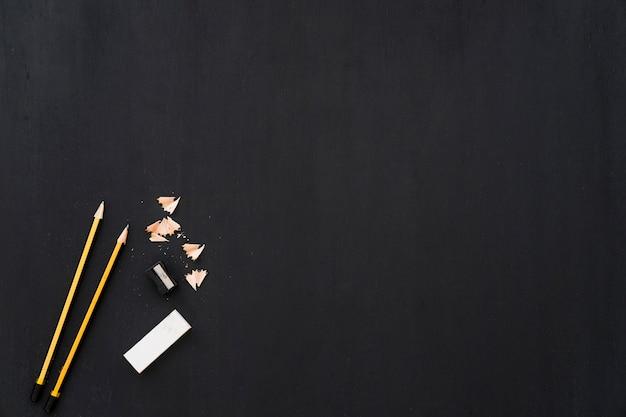 Ołówki i temperówka z kosmosu