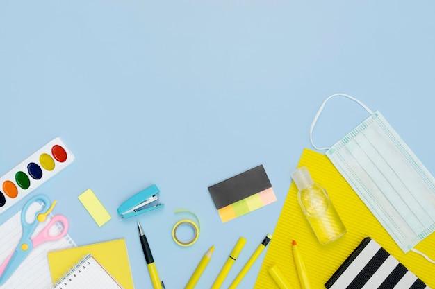 Ołówki szkolne z maską medyczną