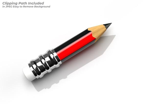 Ołówki z gumowym pisakiem utworzono ścieżkę przycinającą zawarte w formacie jpeg łatwe do skomponowania.