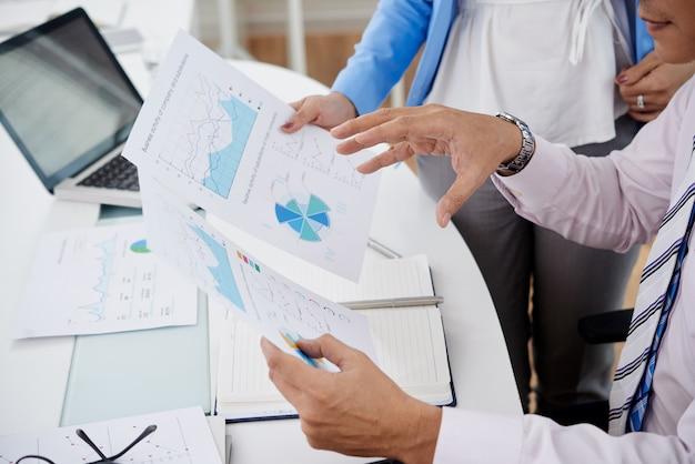 Omawianie raportów finansowych