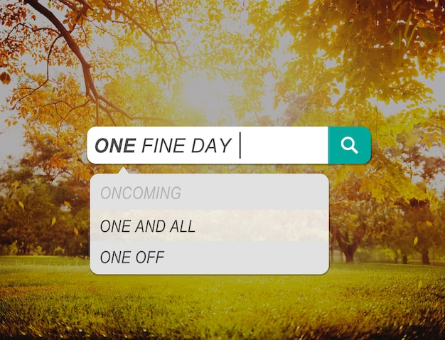 One fine day relaks chilling fun concept
