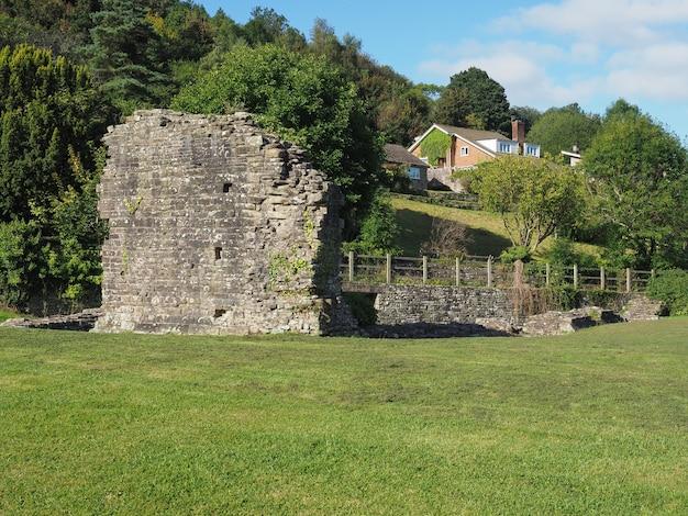 Opactwo tintern (abaty tyndyrn) dziedziniec wewnętrzny w tintern