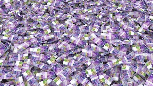 Opakowanie banknotów tysiąca franków szwajcarskich na całą ramkę