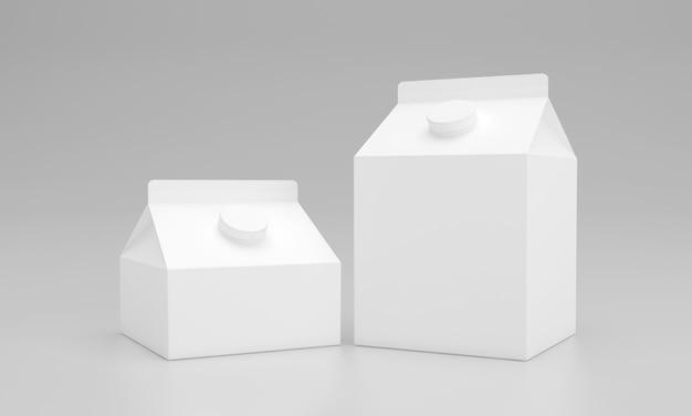 Opakowanie opakowań mlecznych projektowanie opakowań 3d renderowane