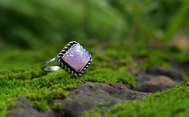Opal pierścionek opal luksusowy