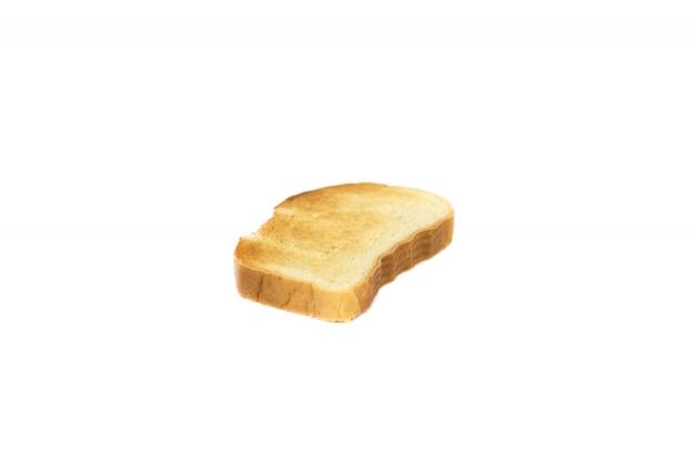 Opiekany kawałek białego chleba