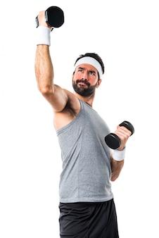 Opieki przystojny fitness głupie energii
