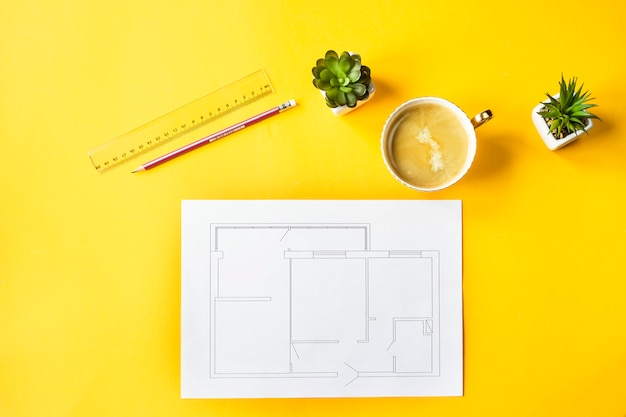 Opracowanie projektu i układu mieszkania