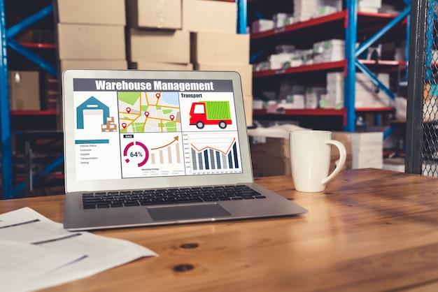 Oprogramowanie do zarządzania magazynem w komputerze do monitorowania w czasie rzeczywistym