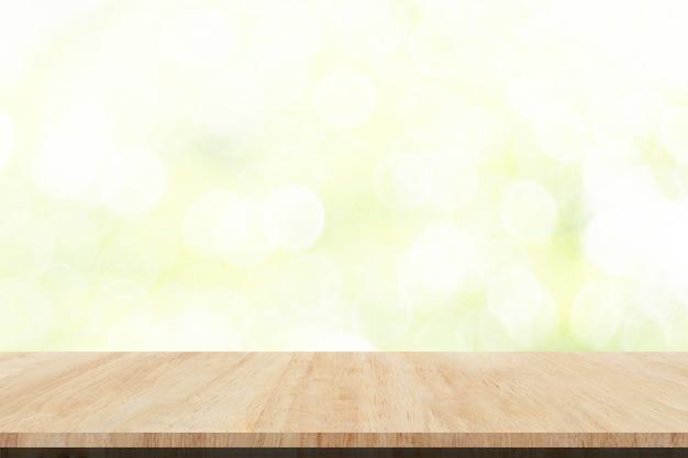 Opróżnia drewniany stołowego wierzchołka tło, produkt prezentacja
