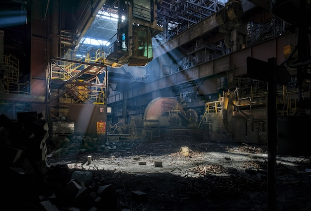 Opuszczona fabryka od środka