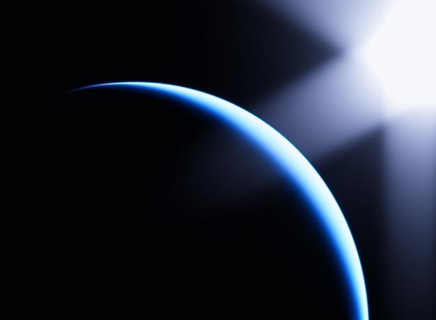 Orbita ziemska dramatyczne tło wycieku światła
