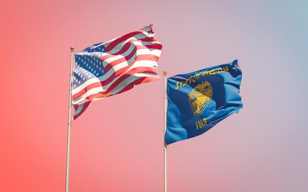 Oregon flagi stanu usa na gradientu nieba