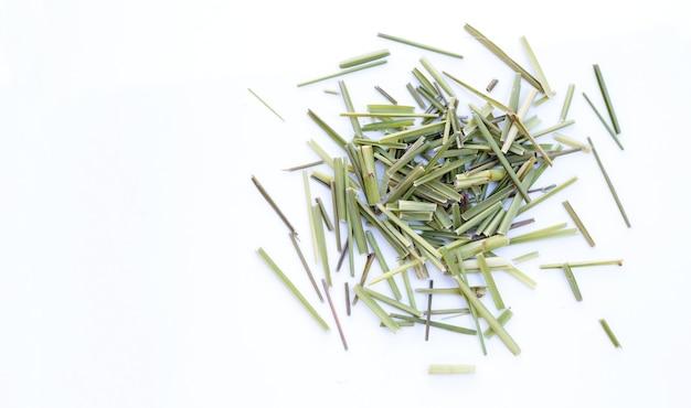 Organiczna suszona trawa cytrynowa. herb dla koncepcji herbaty