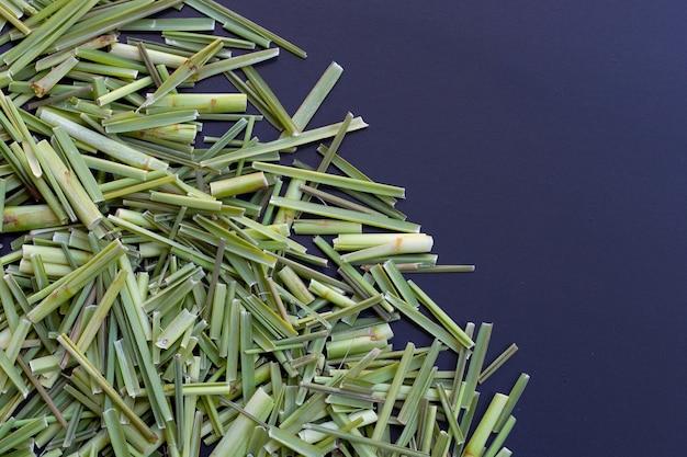 Organiczna trawa cytrynowa. herb dla koncepcji herbaty