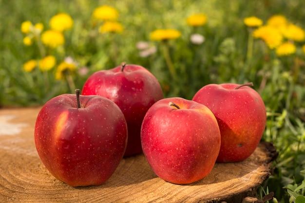 Organiczne czerwone jabłka