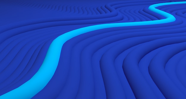 Organiczny kształt tło renderingu 3d