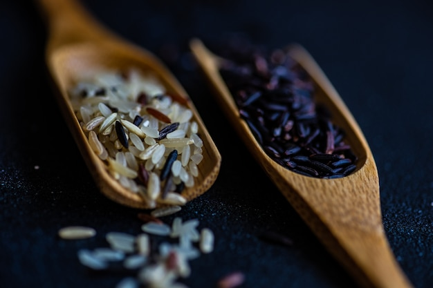 Organiczny kulinarny pojęcie z ryżem
