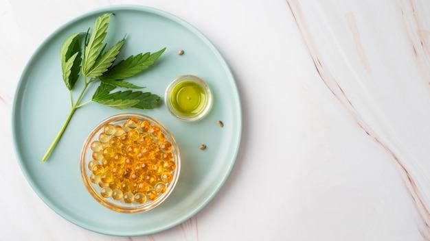 Organiczny skład produktu z konopi indyjskich