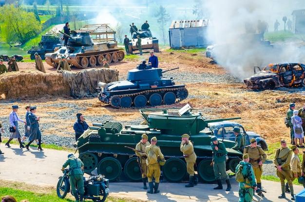 """Organizatorzy historycznego i kulturalnego centrum """"linii stalina"""" organizowali wydarzenia z okazji dnia zwycięstwa"""