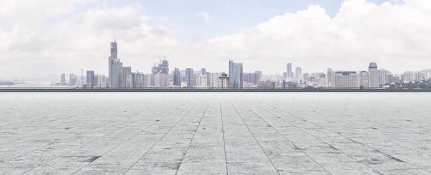 Orientalny krajobraz ziemi pearl futurystycznej wieży