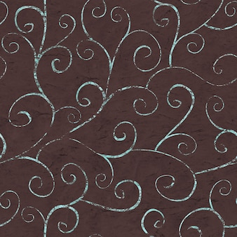 Orientalny vintage wzór na czekoladowym brązowym tle