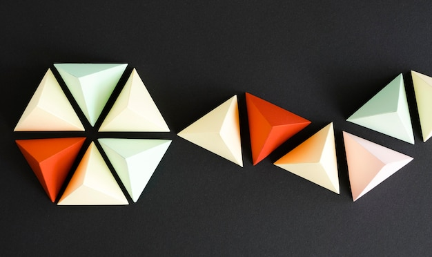 Origami wykonane z papieru