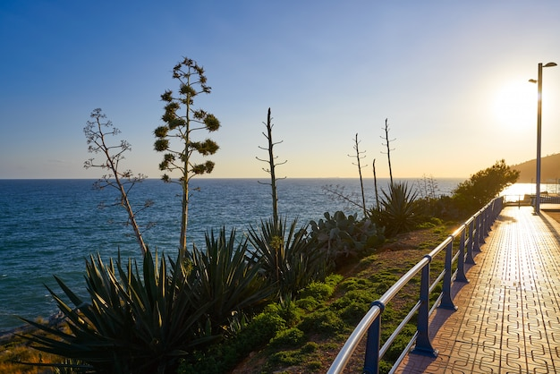 Oropesa de mar w castellon na morzu śródziemnym