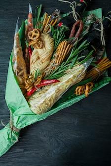 Oryginalny jadalny prezent w postaci bukietu