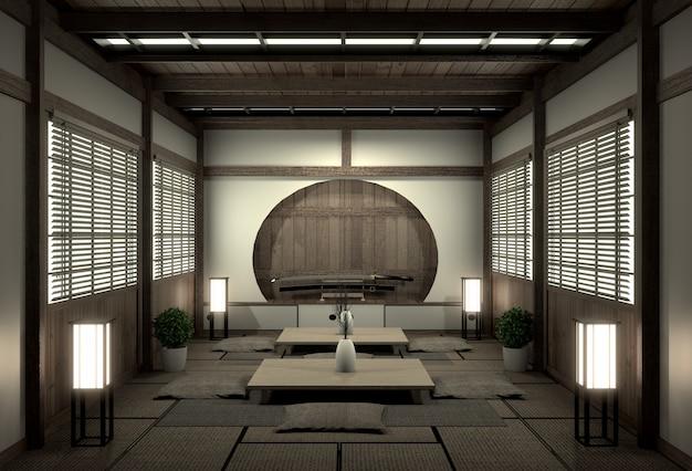 Oryginalny pokój w japońskim stylu, era showa, design z najlepszymi japońskimi projektantami