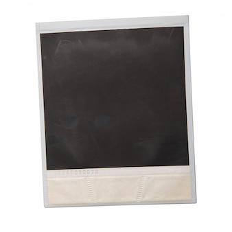 Oryginalny polaroid na białym tle
