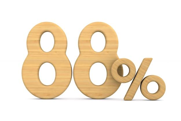 Osiemdziesiąt osiem procent na białym tle.