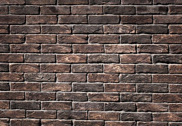 Ośniedziała brown brickwork tła tekstura