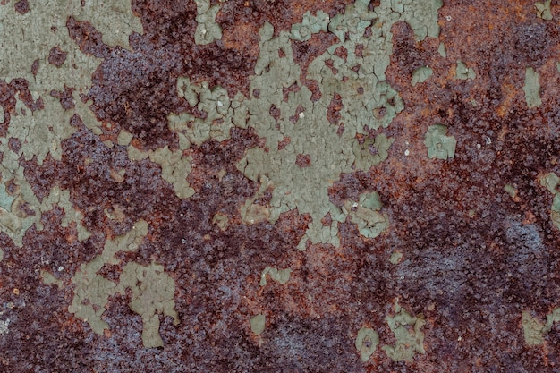 Ośniedziała metal tekstura z korodowania tłem