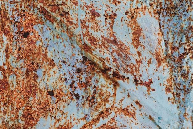 Ośniedziała stara metal tekstura z korodowaniem i bpaint