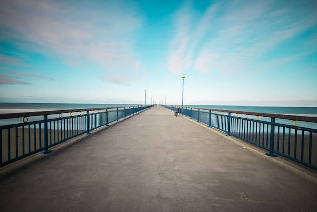 Ośrodek na plaży niebieski punkt zasilania