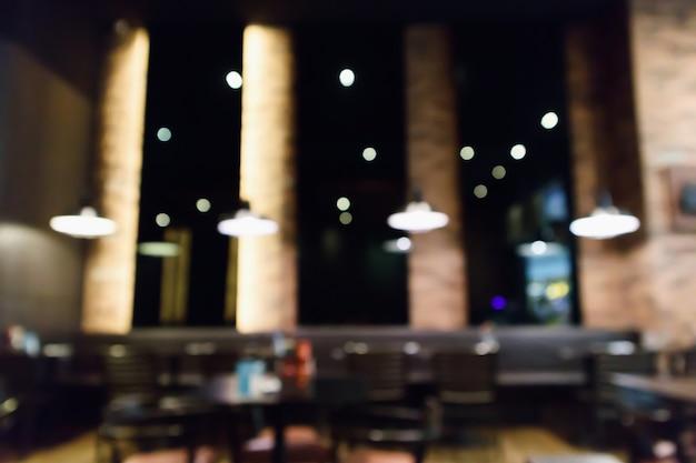Oświetlone tło restauracji