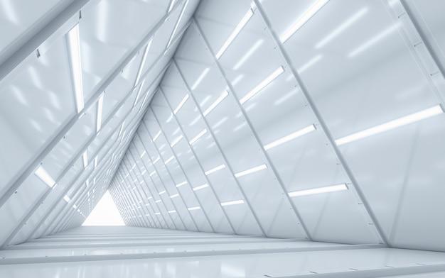 Oświetlony projekt wnętrza korytarza