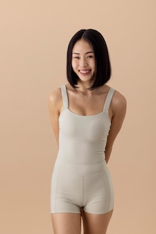 Oszałamiający portret azjatyckiej kobiety