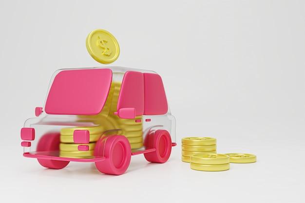 Oszczędność pieniędzy na zakup samochodu.