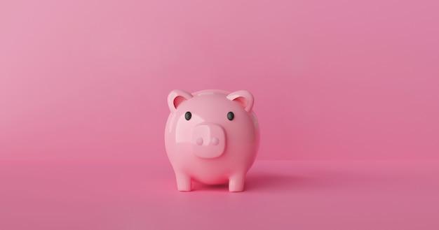 Oszczędzaj pieniądze dzięki renderowaniu 3d skarbonki.