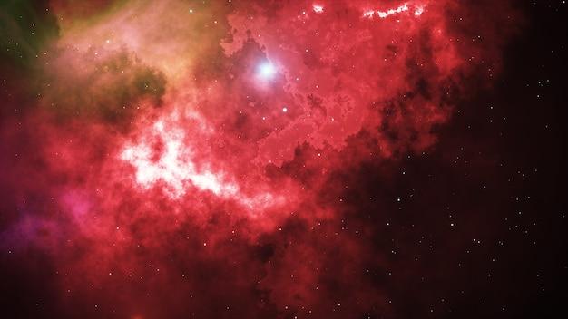 Otwarta przestrzeń, gwiazdy i mgławice w przestrzeni