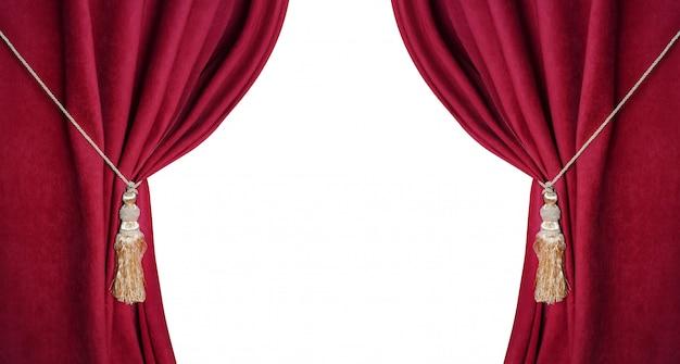 Otwarta teatralna czerwona ciemna